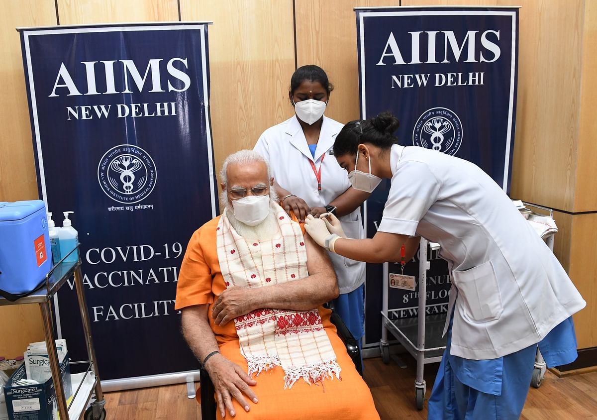 PM Modi Gets His Second Dose Of COVID Vaccine, Urges People To Get Vaccinated