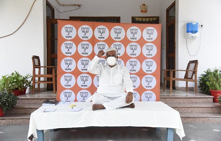 As People Battle Oxygen Shortage, Scarcity Of Beds, UP BJP Chief On A Sit-in Against Post-Poll Violence In West Bengal