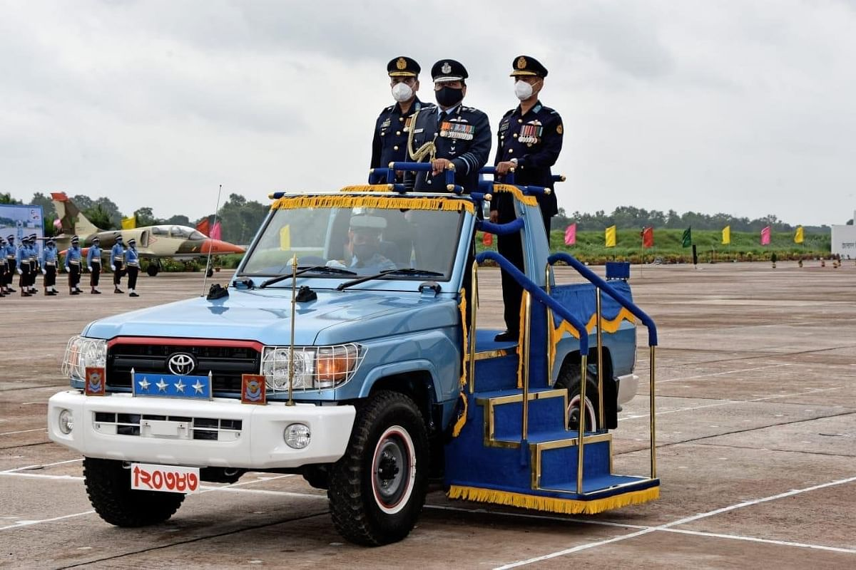 Air Chief Bhadauria Inspects Passing Out Parade, Commissioning Ceremony At Bangladesh Air Force Academy