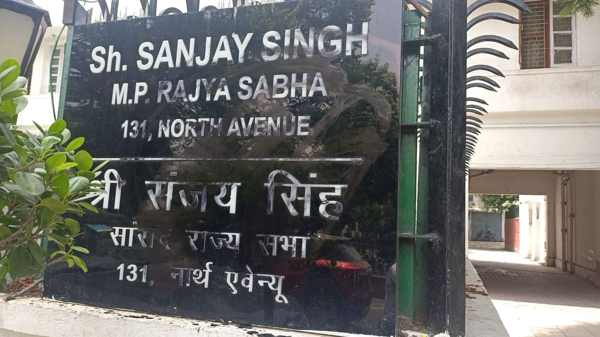 Sanjay Singh's Name Plate Outside His Residence Smeared With Black Paint