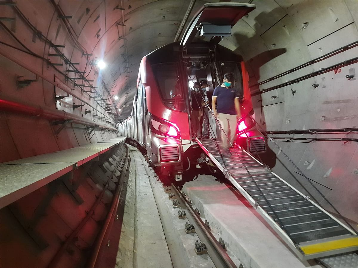 Lucknow Metro Conducts Special Emergency Exit Mock Drill
