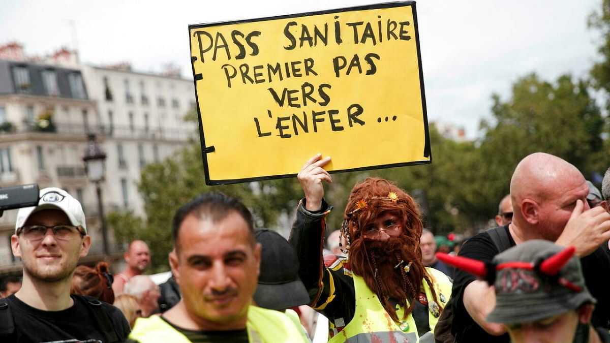 Protests In France After Lawmakers Vote For Health Pass Being Mandatory