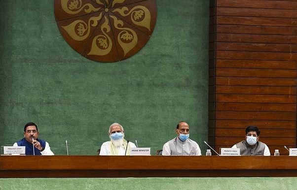 پارلیمنٹ کا مانسون اجلاس شروع ہونے سے قبل کل جماعتی رہنماوں کی میٹنگ ہوئی