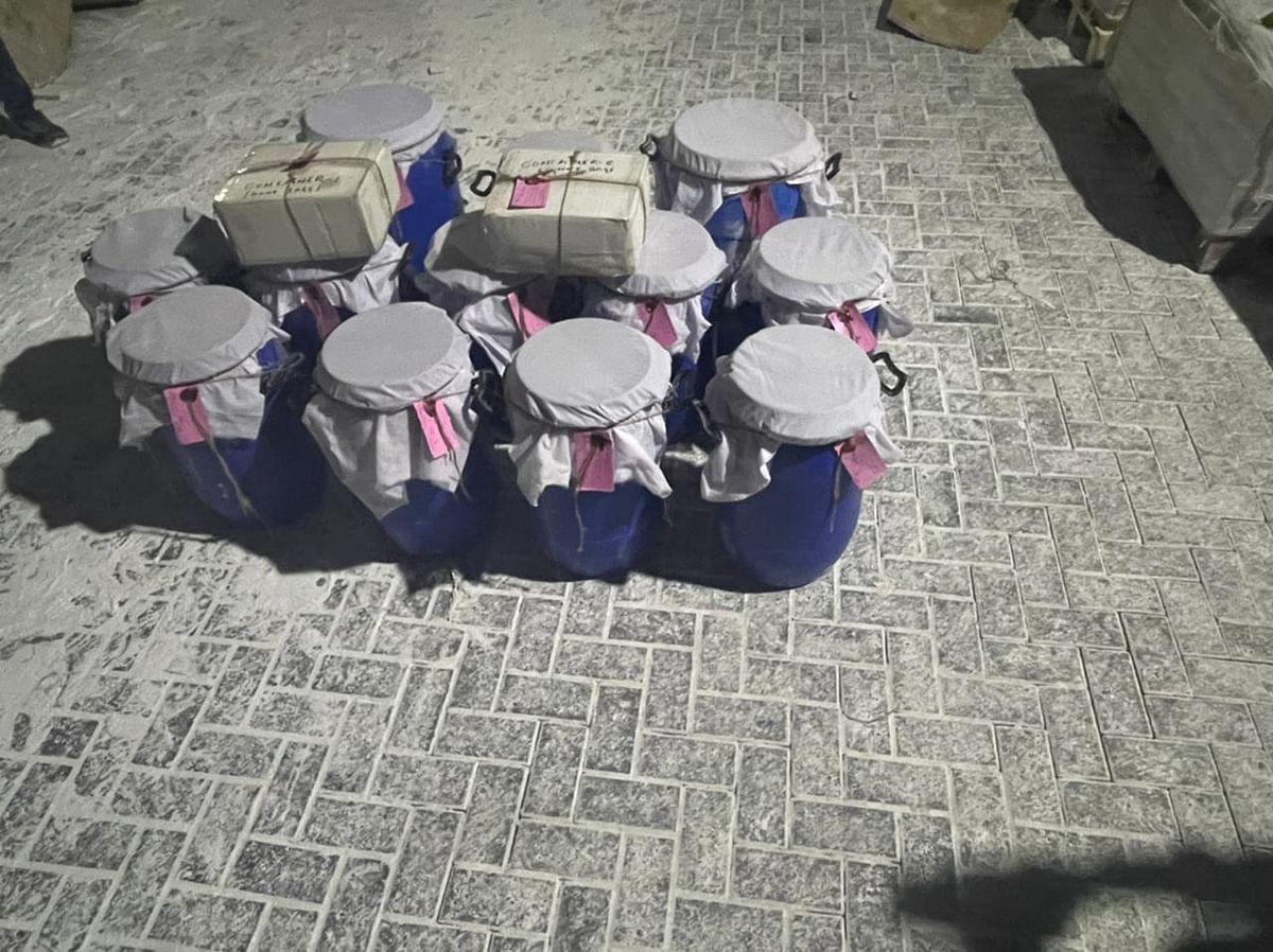 DRI Recovers 293 Kgs of Heroin Stashed In Gunny Bags In Mumbai
