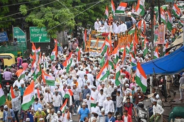 तिरंगा संकल्प यात्रा को मिले जनसमर्थन से बौखलाई योगी सरकार, पर हम डरने वाले नहीं: आप प्रदेश अध्यक्ष सभाजीत सिंह