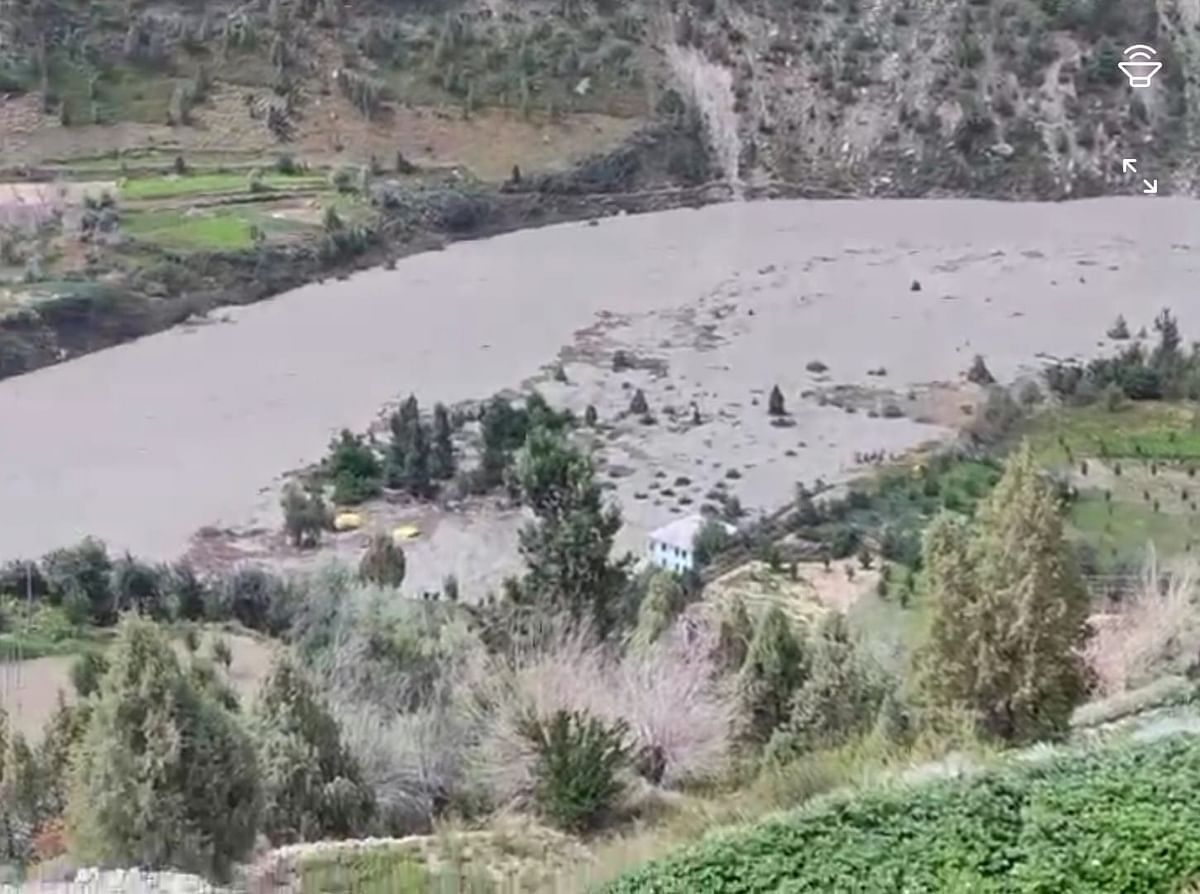 Chandrabhaga River Bursts Open Reservoir In Lahaul-Spiti in Himachal, Disaster Averted