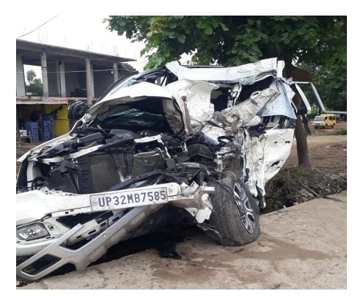Son Of Prominent Businessman Dies In Ayodhya Car Crash, Eldest Son Critically Injured