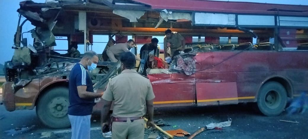 Woman Dies, 19 Injured In Greater Noida As Private Bus From Punjab, Headed For Bihar Is Hit By A Speeding Truck
