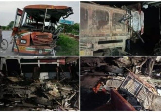 Three Killed, Two Dozen Seriously Injured In Road Mishap In Etawah