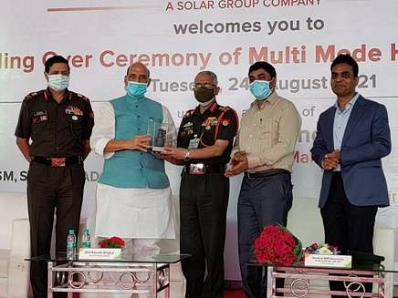 First Batch Of Multi-Mode Hand Grenades Handed Over To The Indian Army