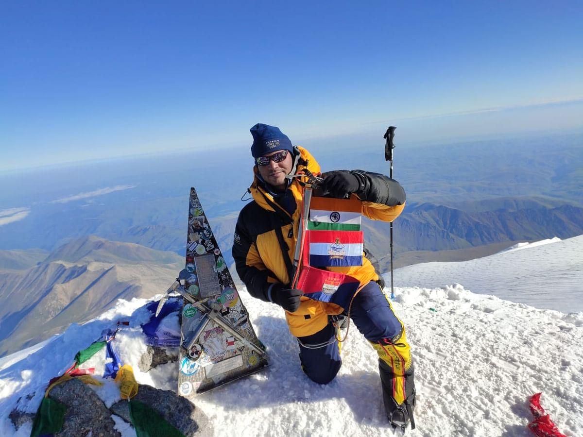 Uttarakhand Police Man Climbs Mt Elbrus In Six Days, DGP hails The Feat