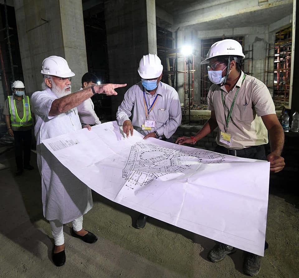 Back From US Visit, PM Modi Visits Central Vista Site