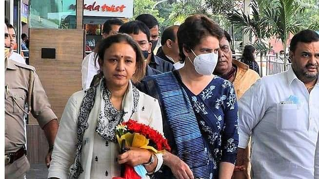 Priyanka Gandhi Vadra Arrives In Lucknow For A Five-Day Stay