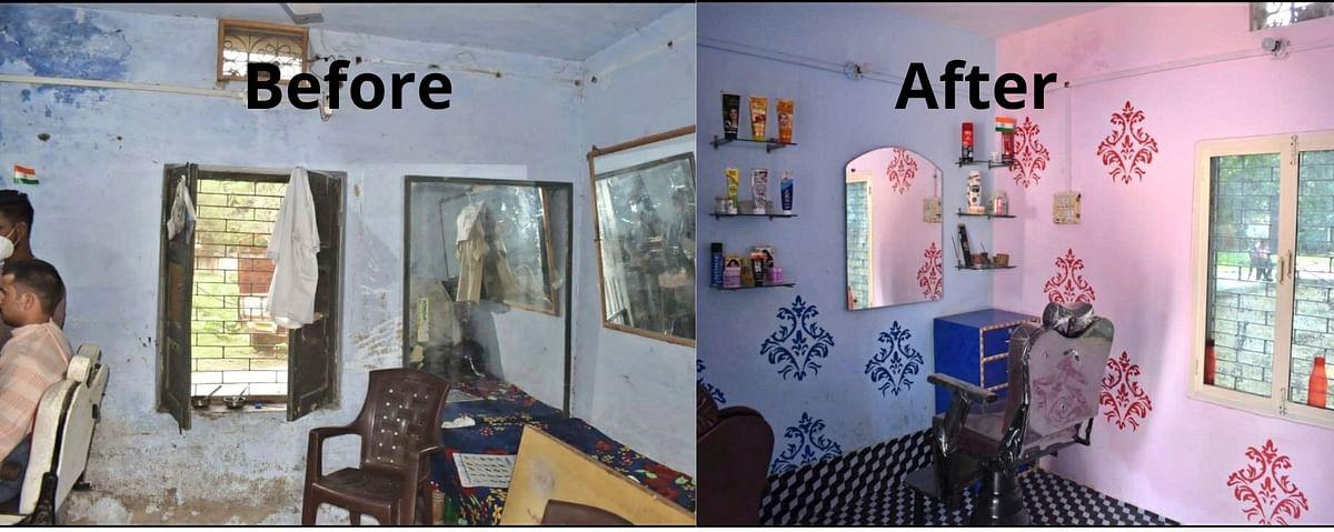 Cops Rejoice As Aligarh SSP Leads Makeover Of Barber Shop