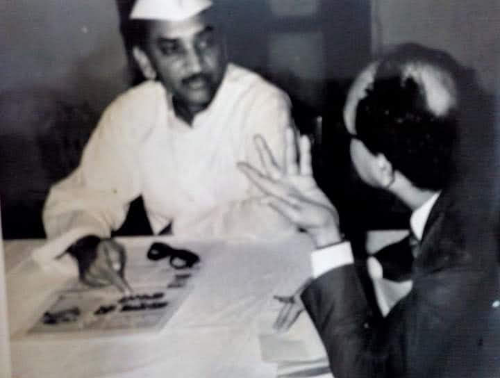 Interviewing the then CM HN Bahuguna
