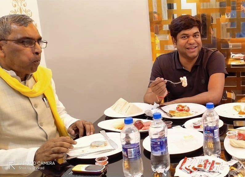 OP Rajbhar Meets Vikassheel Party Chief Mukesh Sahani