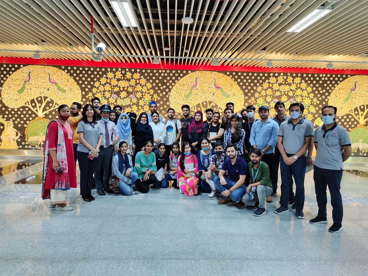 Students Of Integral University Visit Lucknow Metro Rail Stations