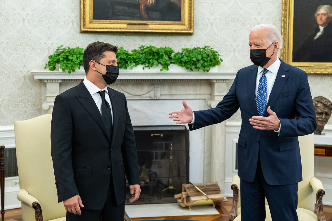 Biden Reassures Ukraine Of US Support In The Face Of Russian Aggression