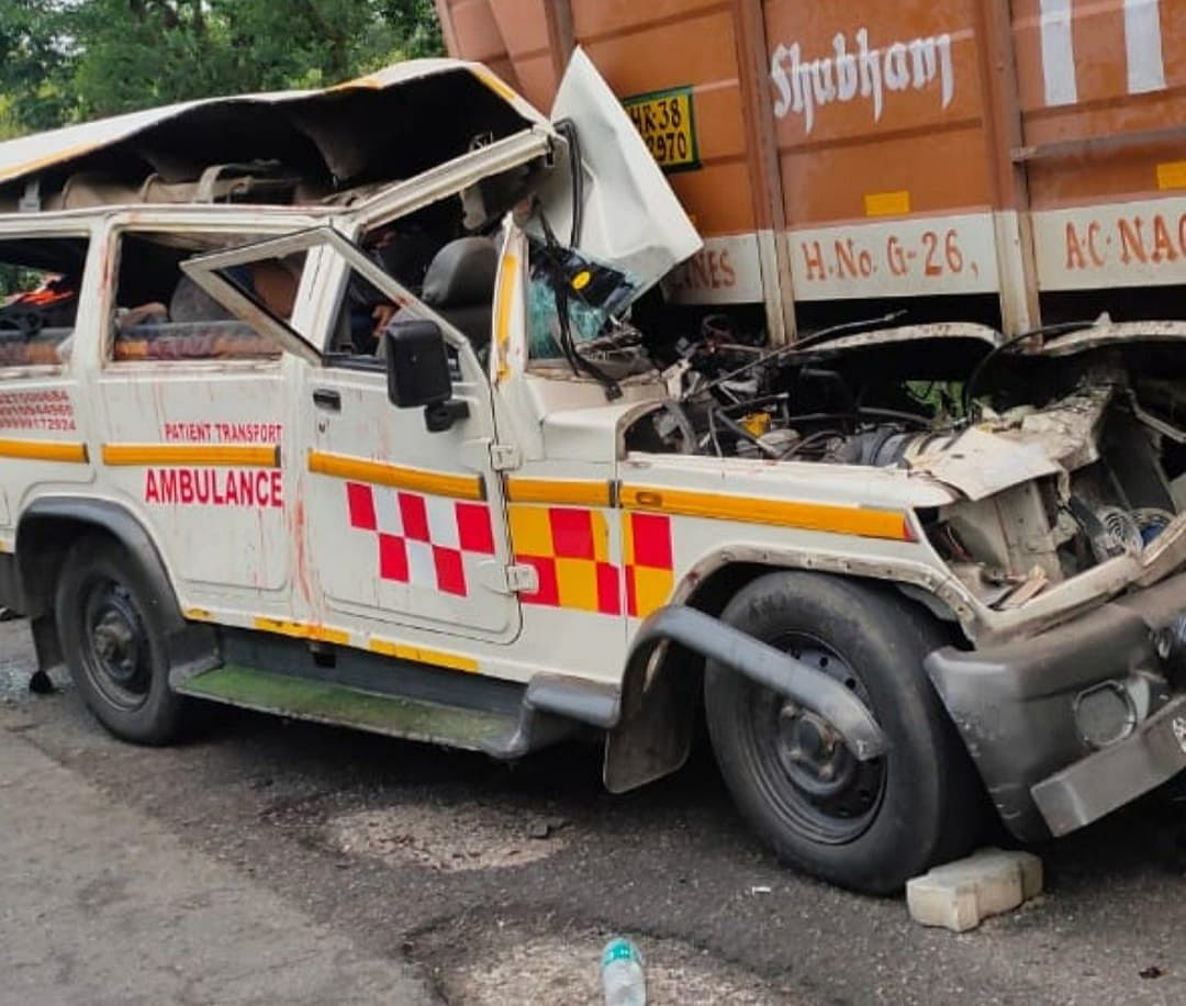 Two Killed In UP As Ambulance Carrying A Dead Body Rams Into Stationary Truck