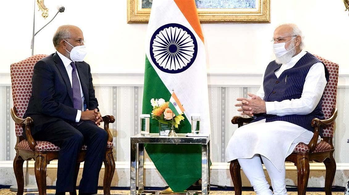 PM Modi Meets Adobe CEO Shantanu Narayen