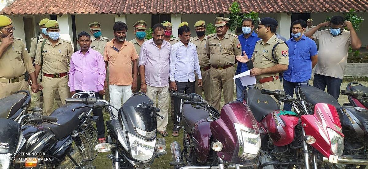 हरदोई पुलिस ने किया भोले भाले किसानों से ठगी करने वाले कुख्यात शातिर गिरोह का भण्डाफोड़