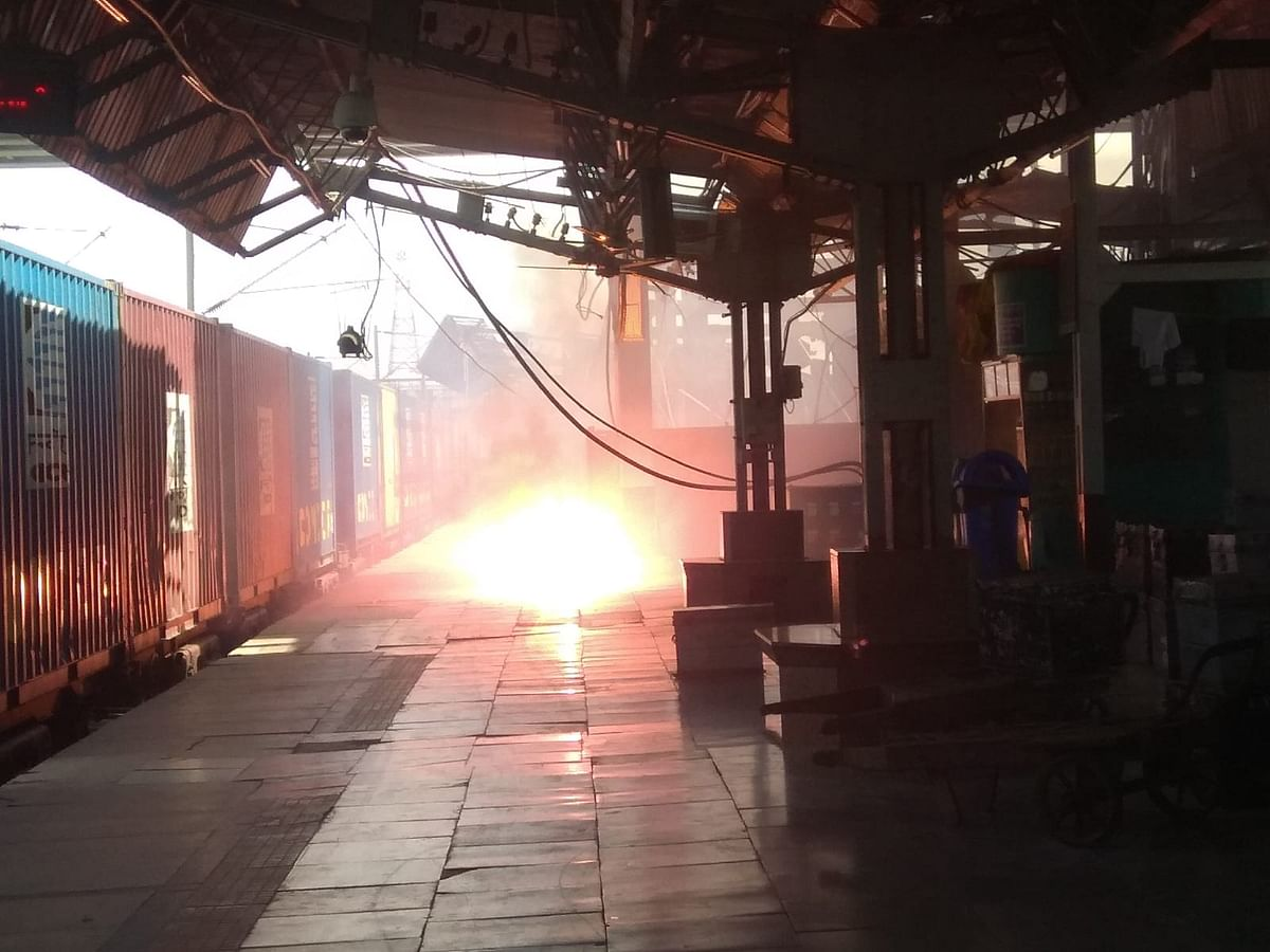 Electricity Cable Bursts Into Flames At Prayagraj Railway Junction, Big Tragedy Averted