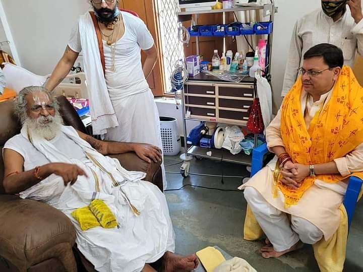 Uttarakhand CM Pushkar Singh Dhami Meets Nritya Gopal Das In Ayodhya