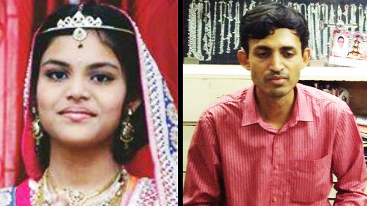13-year-old Aradhana (left) and her father (right). (Photo Courtesy: <i>The News Minute</i>)