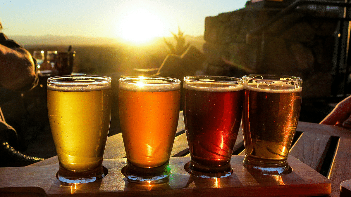 One drink is defined as 12 ounces of beer, 5 ounces of wine, or 1.5 ounces of hard liquor.