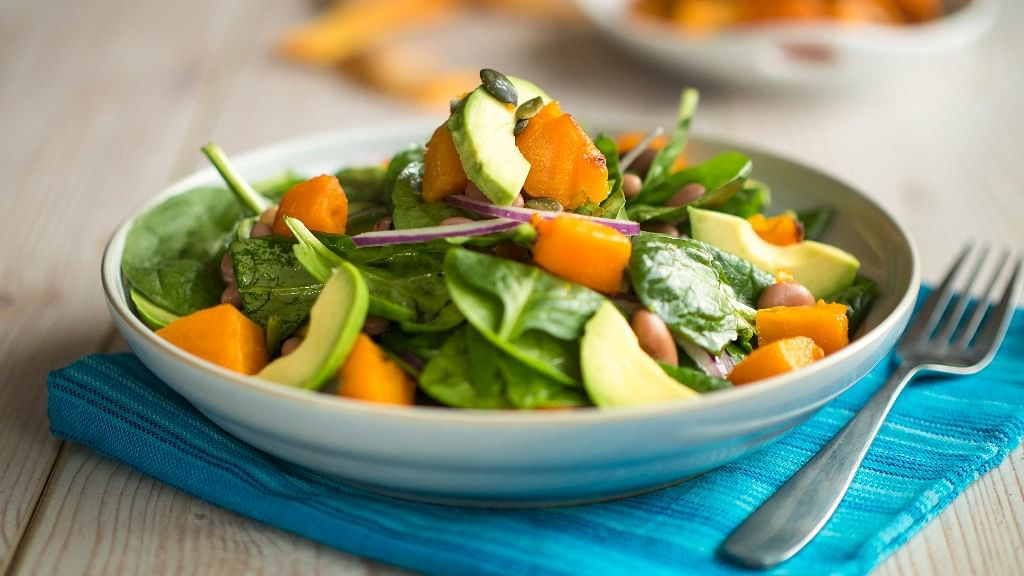 Spinach salad comes in all shapes and sizes.
