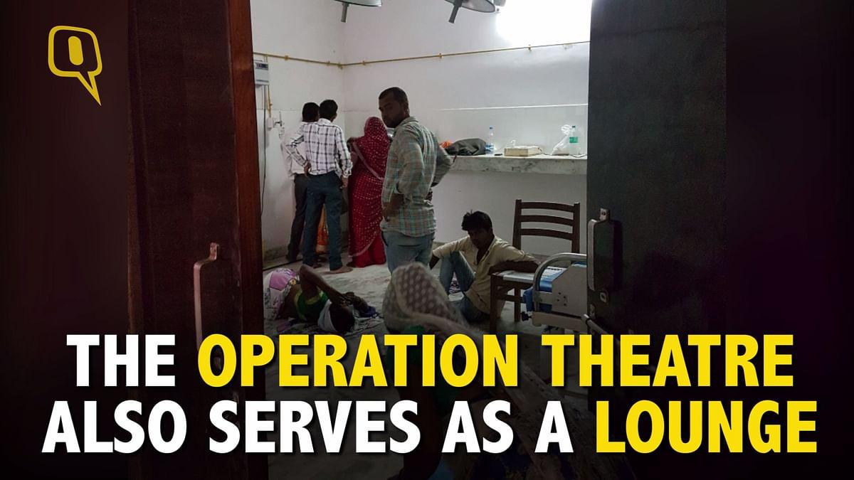 An operation theatre at Saraswati Hospital.
