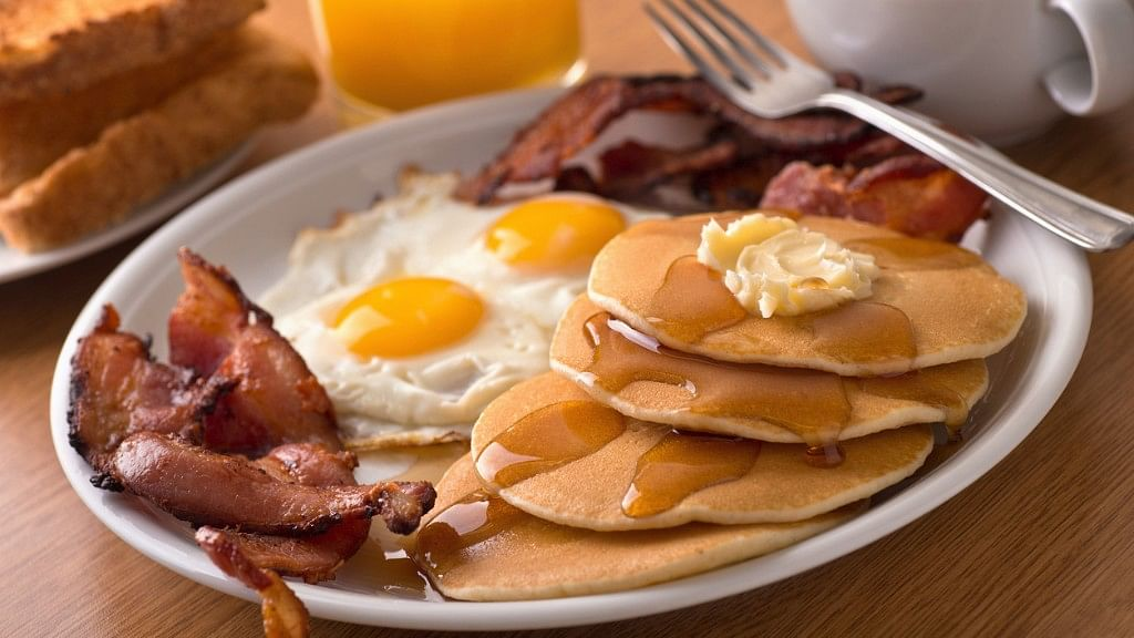 Eggs and bacon might be a popular breakfast option but certainly not a healthy one.