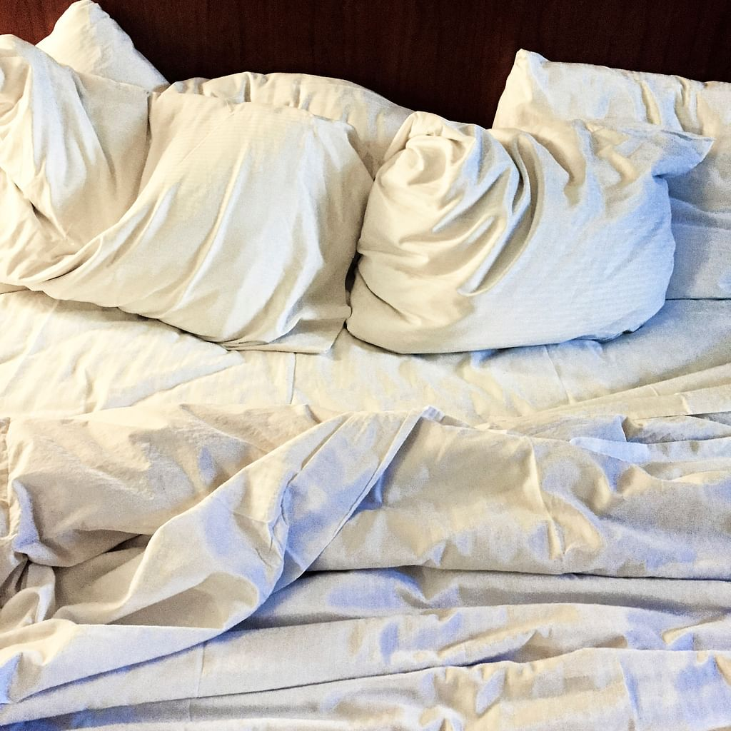 Bedsheets and pillow covers need to be changed regularly.