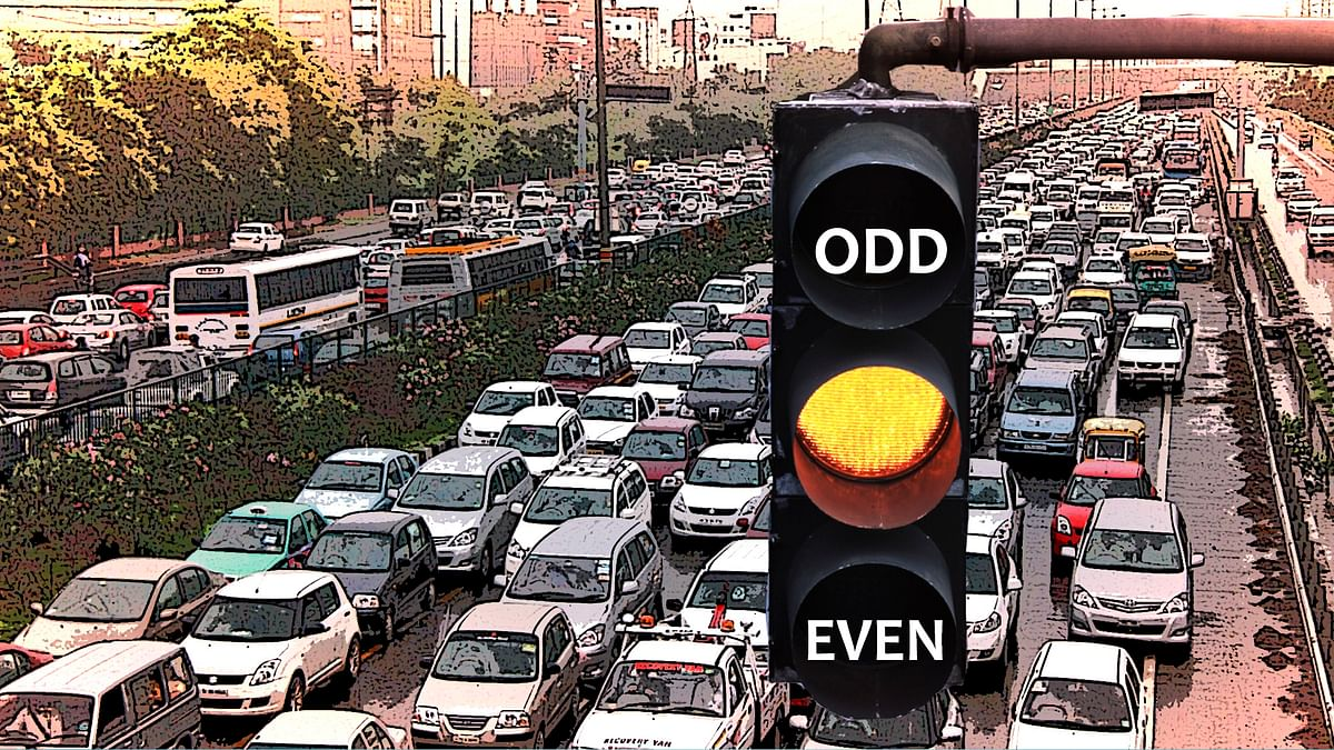 Monday, 4 November, to witness the start of the third Odd- Even car rationing scheme in NCR