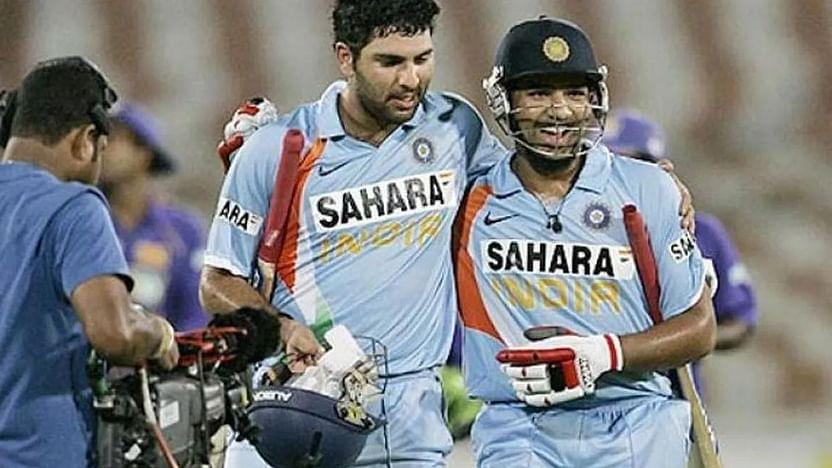 Rohit Sharma and his 'cricket crush' Yuvraj Singh