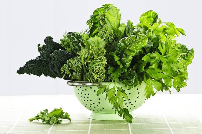 Winter greens are a rich source of vitamins, iron, calcium and other minerals
