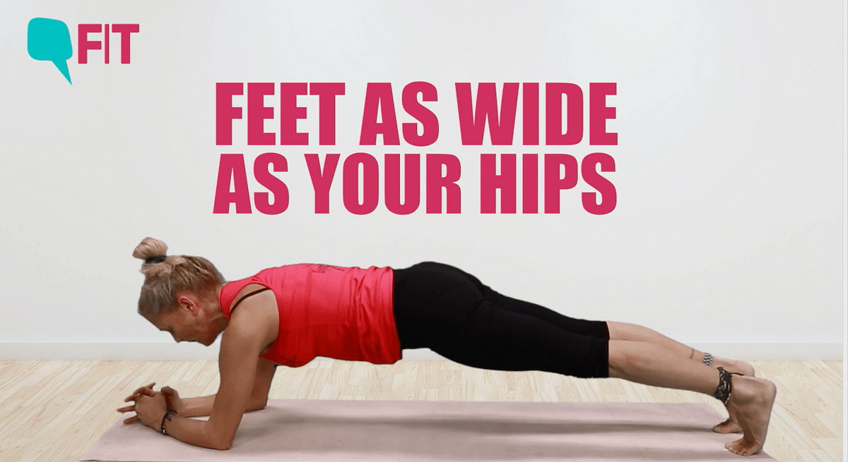 If you're a beginner, start with holding a plank for thirty seconds and increase it by ten seconds every day.