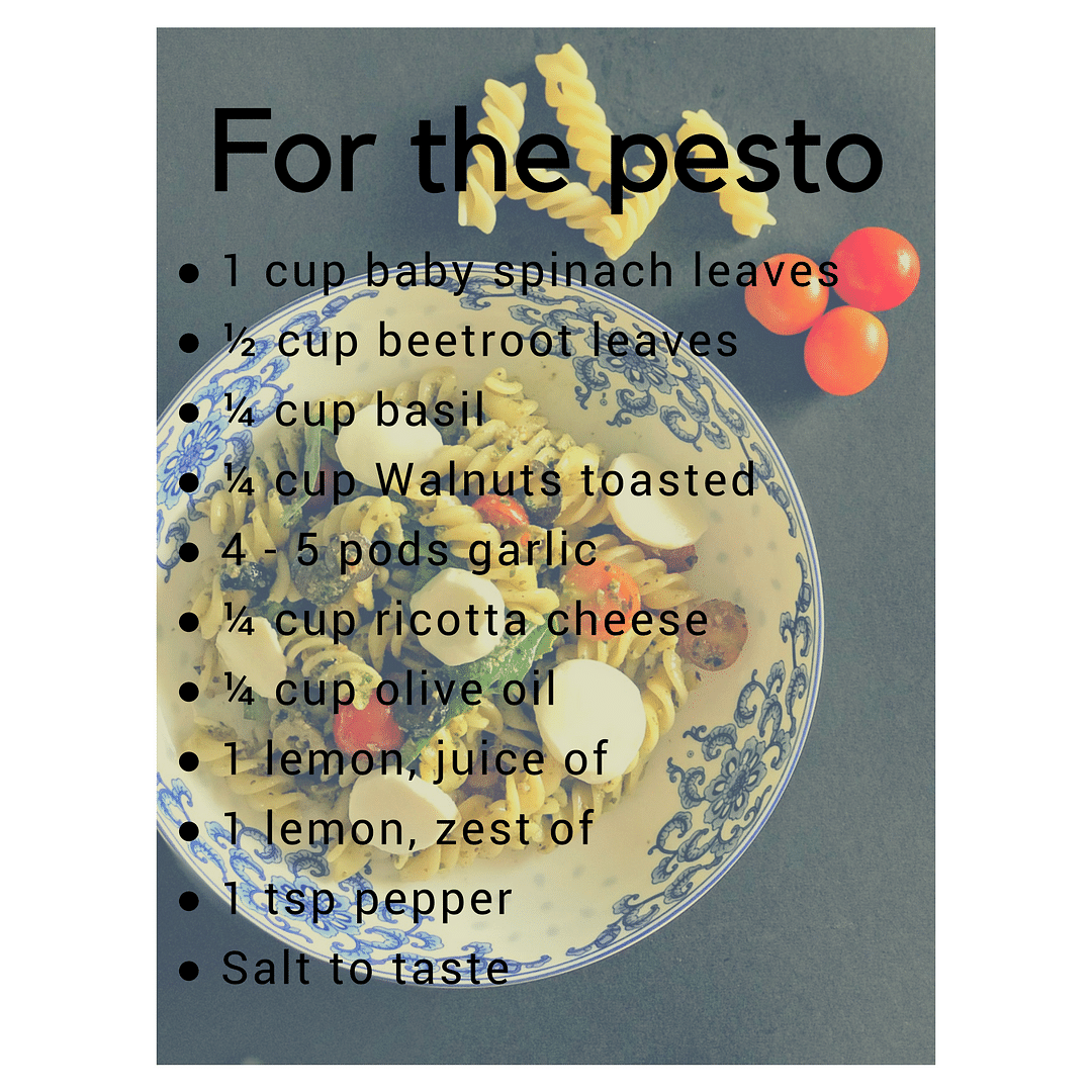 #FITRecipe: You Want to Give Our Mixed Greens Pesto Pasta a Try