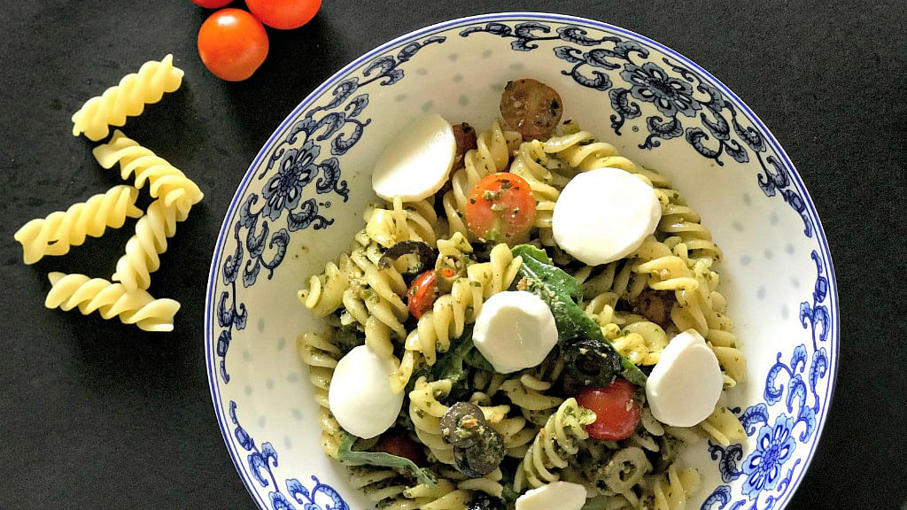 Food blogger Monika Manchanda shares her favourite winter greens pesto pasta recipe