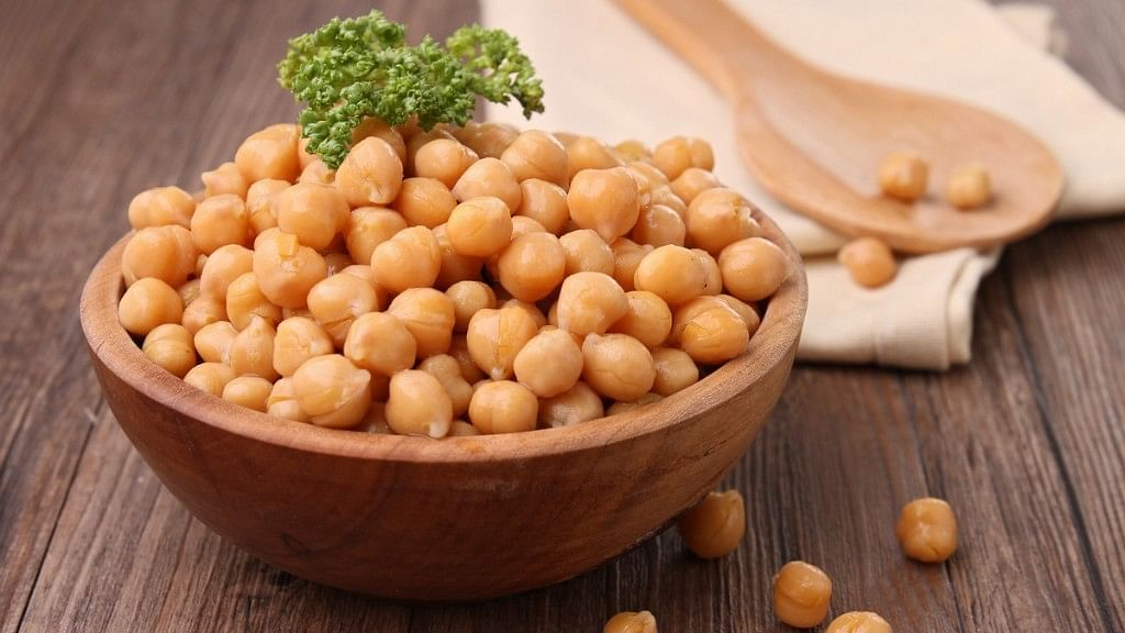 Chickpeas are loaded with happy mood B vitamins.