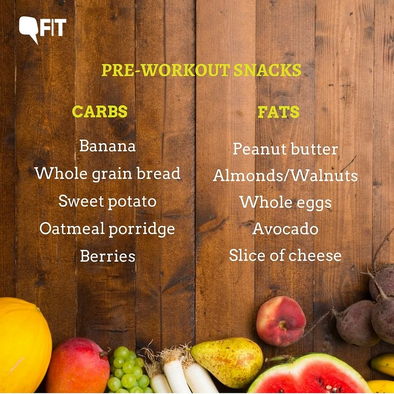 Carbs and Fats? Here's What Your Pre-Workout Snack Should Include
