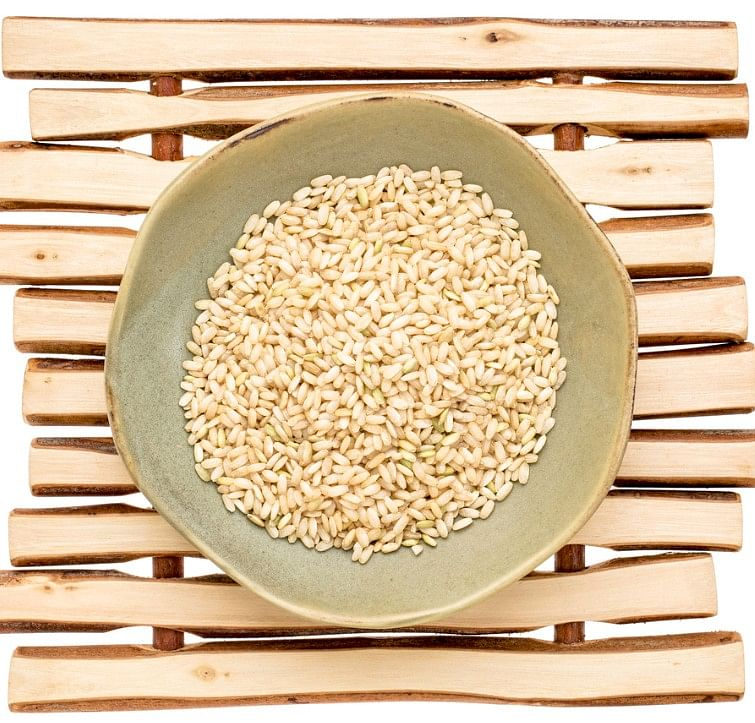 Sprouting boosts rice's dietary fiber content, and lowers the glycemic index.