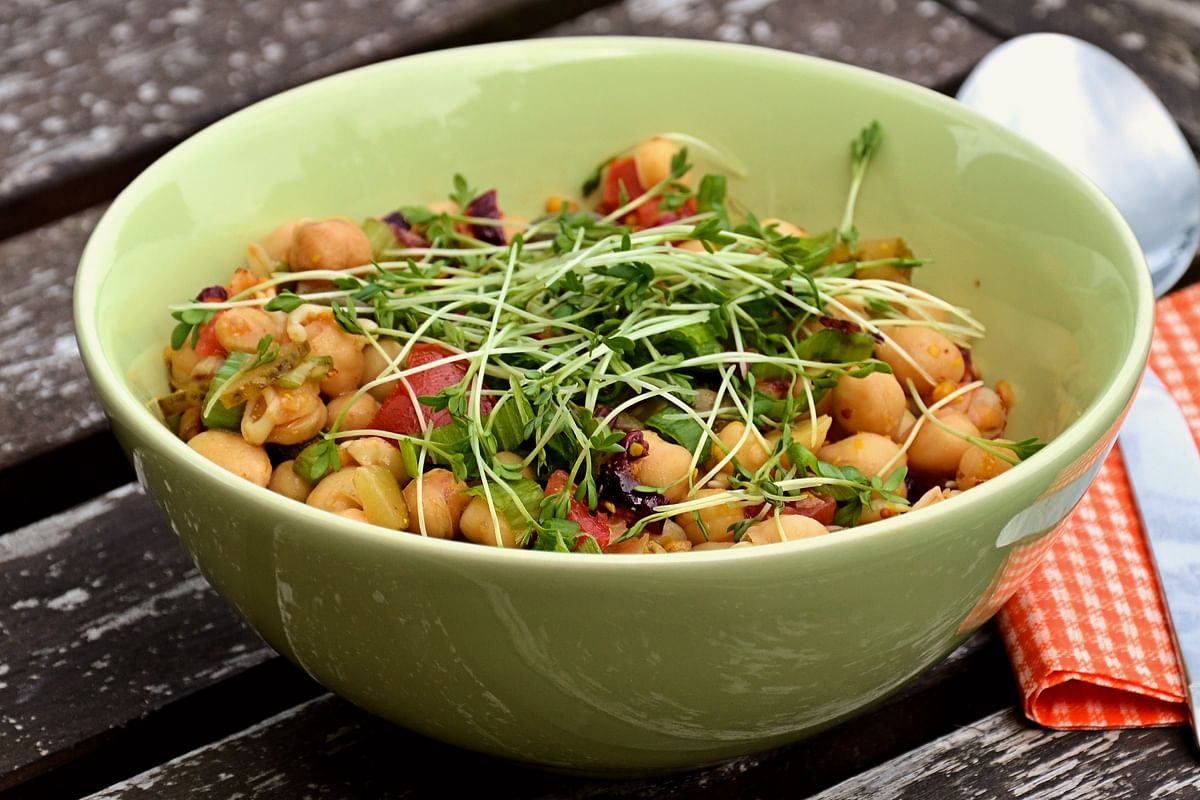 Chickpeas are loaded with fibr and are extremely healthy for the heart.