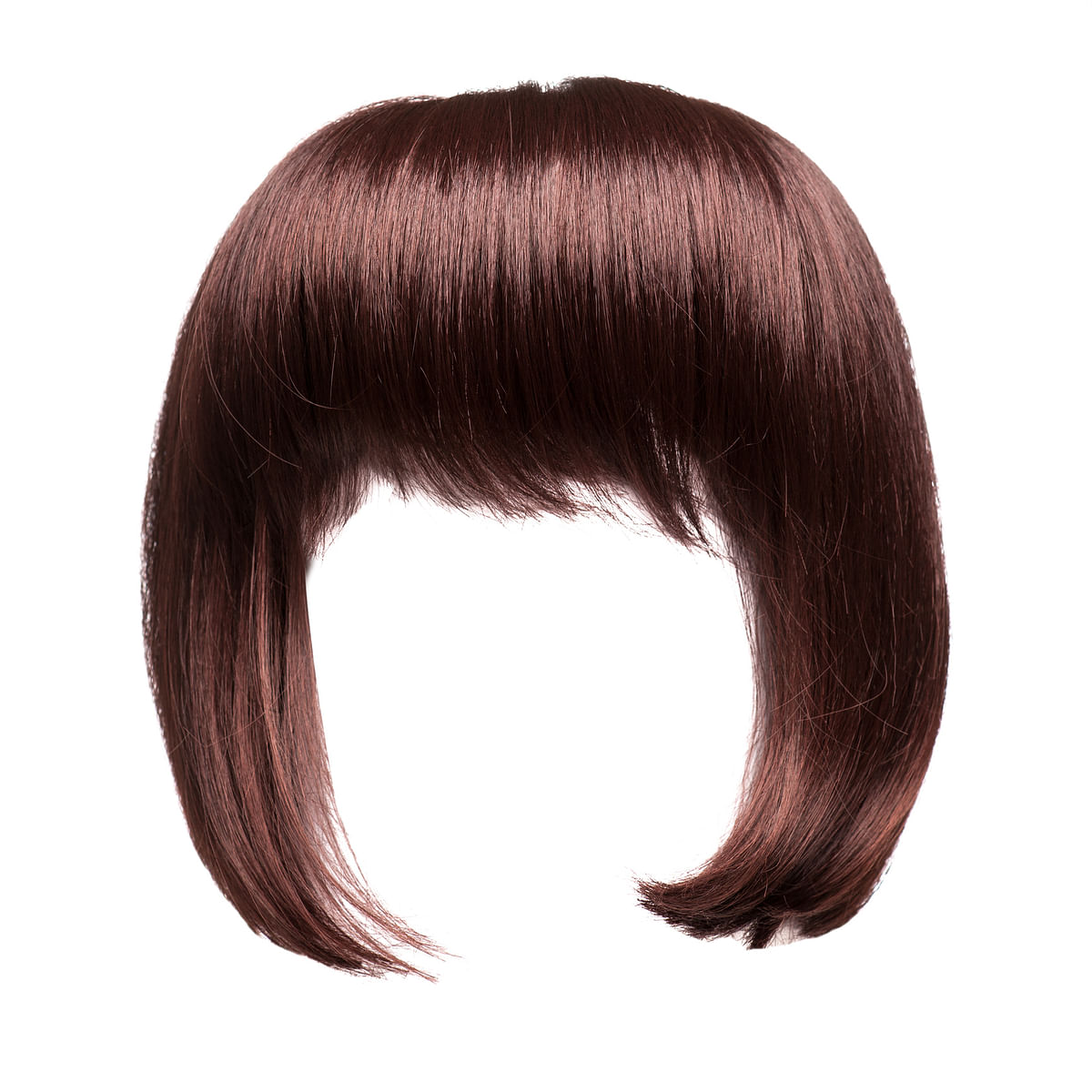 'I chose a wig with the hair I had always wanted – jet-black and poker straight.'