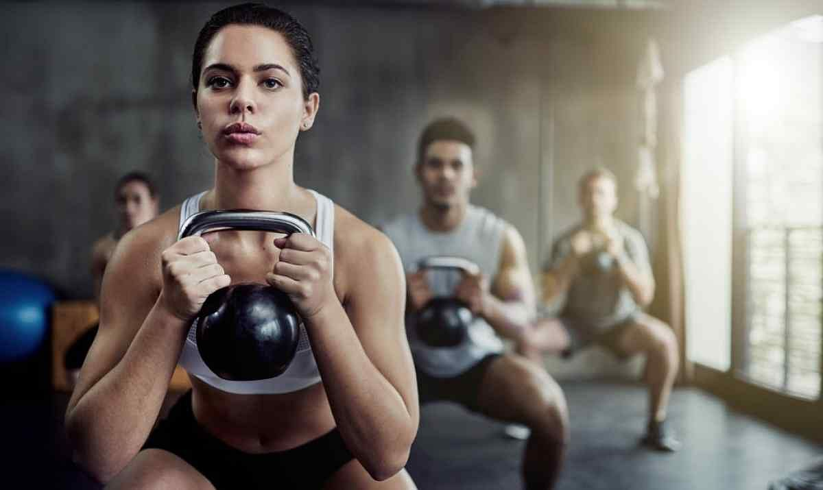 Take up kettlebells in your 40s to burn calories.