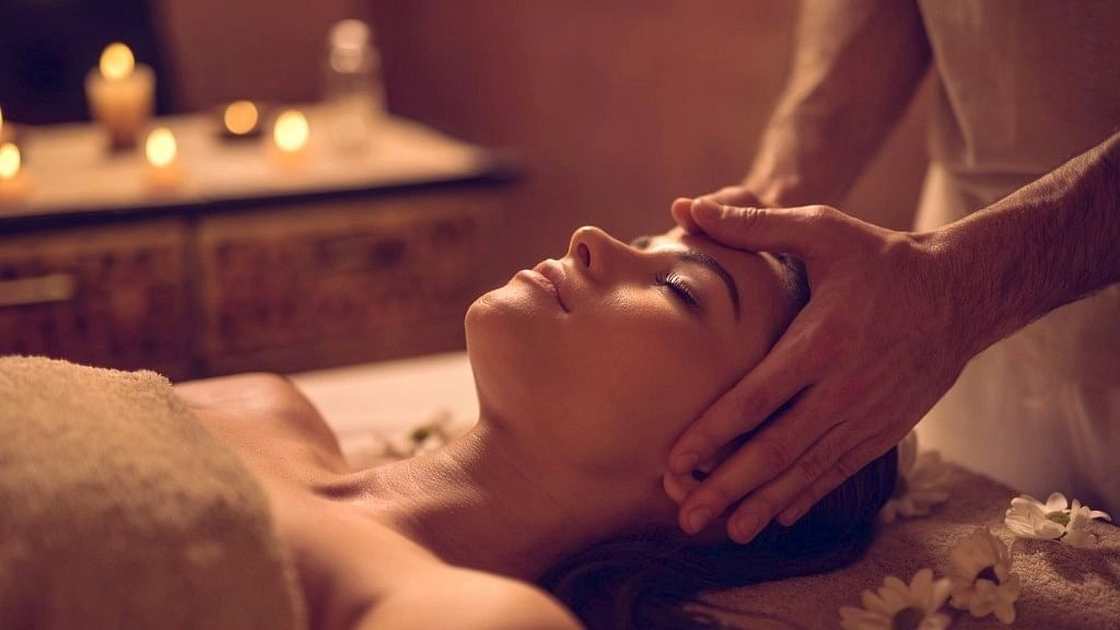 An oil massage (Abhyanga) before bath keeps skin healthy and smooth.