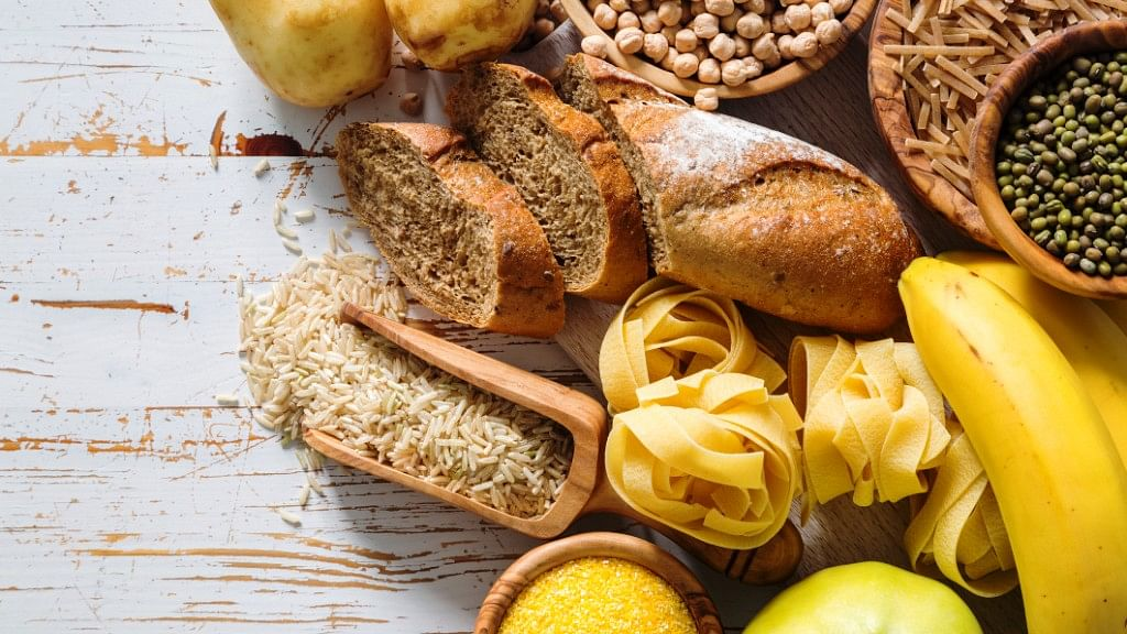 Carbohydrates are found in foods like fruits, vegetables, breads, Indian bread and dairy products.