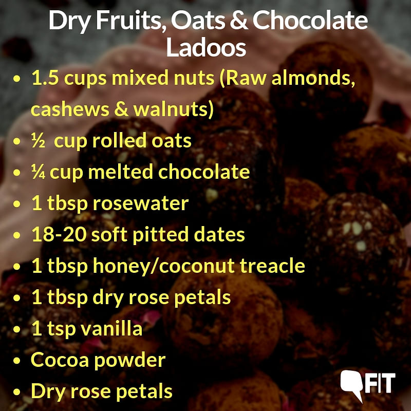 #FITRecipe: This Diwali Make Ladoos of Dry Fruit, Oats & Chocolate