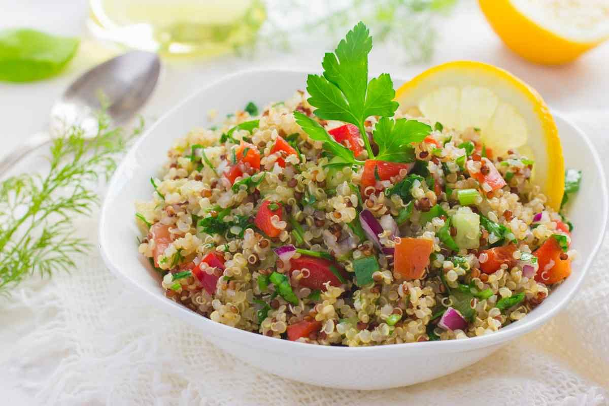 Quinoa can be had in a salad.