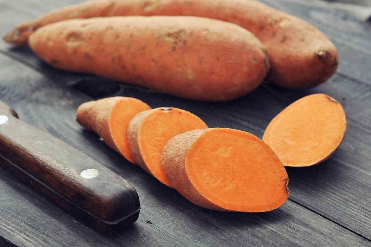 Sweet potatoes are rich in fibre.